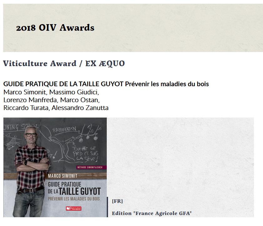 OIV awards 2018